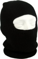 Merkloos / Sans marque One hole muts / skimuts - zwart - one size - outdoor / bivak / wintersport - warme eengaats balaclava