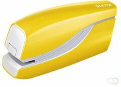 Leitz WOW elektrische nietmachine, 10 blad, voor nietjes E1, geel