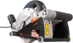 Zwarte FERM WSM1008 Muurfrees - Freesmachine - 1600W - Met 2 Diamantschijven 150mm - Laser - Stofzuigadapter - Canvas opbergtas