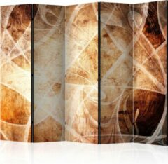 Beige Kamerscherm - Scheidingswand - Vouwscherm - Brown Texture II [Room Dividers] 225x172 - Artgeist Vouwscherm