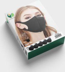 SafetyFirst Safety First Wasbaar Gezichtsmasker | Zwart | 5 Pack | Family Voordeelverpakking