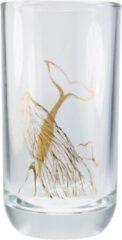 Transparante TAK Design Drinkglas Whale Hoog - Glas - Ø6,5 x 12,5 cm - Koper