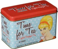 New English Teas Retro Time for Tea Tin 40 Teabags English Breakfast