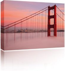 Gouden Sound Art - Canvas + Bluetooth Speaker Golden Gate Bridge (41 x 51cm)