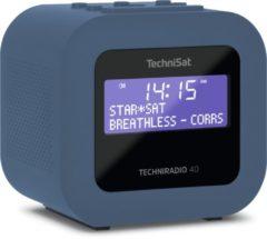 Technisat Techniradio 40 DAB+ wekkerradio met USB laadfunctie - blauw/grijs
