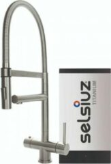 Selsiuz Inox XL kokend water kraan met titanium single boiler inox