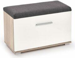 Home Style Schoenenbank Lima 45 cm hoog in sonoma eiken met hoogglans wit
