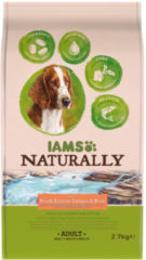 Iams Naturally Dog Adult Atlantische Zalm&Rijst 2,7 kg