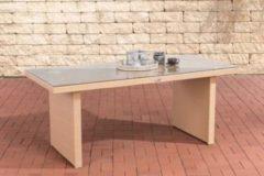 CLP Poly-Rattan Garten-Tisch AVIGNON, Größe: 180 x 90 cm, Höhe: 75 cm, bis zu 5 Rattan-Farben wählbar