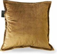 Sit & Heat - Warmtekussen Square Bruin 50 x 50 cm voor binnen en buiten. [kussen van velours/Velvet/Fluweel]