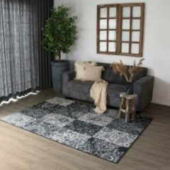 Antraciet-grijze Patchwork Vloerkleed Factum - Joy de Vivre - zwart/grijs 160x230 cm