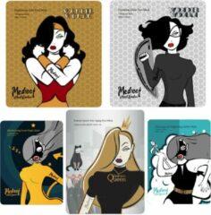 Mediect Wonder Woman Collectie Gezichtsmaskers 5 Stuks - Goud - Kaviaar - Aloe Vera Gel - Caviar - Collageen - Anti Age - Anti Rimpel - Gezichtsverzorging - Huidverzorging - Face Mask - Facial Sheet Mask - Verzorgende Maskers voor Vrouwen