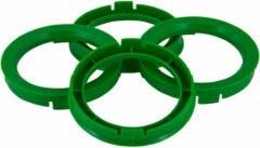 TPI centreerringen 63,3 > 57,1 mm kunststof groen 4 stuks