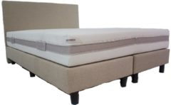 Creme witte Bedworld Collection 180x210 Hotel boxspring creme|beige inclusief micropocketmatras Traagschuim