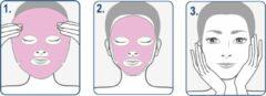 """Roze CHIARA AMBRA® Anti-Aging Doek Masker """"Macarons-Strawberry"""""""