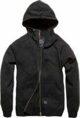 Zwarte Vintage Industries Redstone hooded sweater black