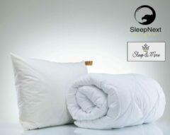 Witte SleepDay 4-Seizoenen Winter & Zomer dekbed + 2x Box Hoofdkussens - 200x200cm