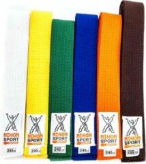 Witte Budo- en judobanden Nihon   stevige kwaliteit   div. kleuren - Product Kleur: Oranje / Product Maat: 280