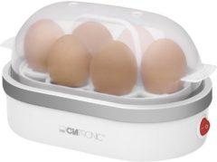 Grijze Clatronic EK 5022 CB Weiß/Silber Eierkocher bis 6 Eier