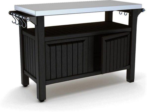 Afbeelding van Antraciet-grijze Keter - Unity XL - Outdoor Storage - BBQ station - 123,7x54x90 cm