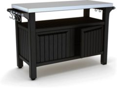Antraciet-grijze Keter - Unity XL - Outdoor Storage - BBQ station - 123,7x54x90 cm