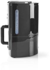 Zilveren Nedis KACM120EBK Koffiezetapparaat 12-kops Inhoud 24-uurs Timer Zwart