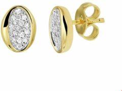 Quickjewels huiscollectie Geelgouden Oorknoppen diamant 0.16ct (2x0.08ct) H SI 4020605