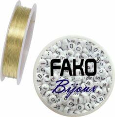 Goudkleurige Fako Bijoux® - Koperdraad - Metaaldraad - Sieraden Maken - 0.4mm - 10 Meter - Goud