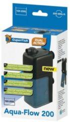 Superfish Aquaflow 200 Dual Action Filter - Binnenfilters - 12.5x6.5x23 cm Zwart 200-400 l/h