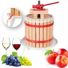 TecTake fruitpers wijnpers sapcentrifuge - 12L - incl. persdoek - 402019