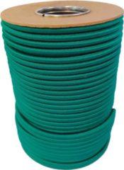 ABC-Led 100 meter Elastisch Touw - Groen - 8mm - elastiek op rol