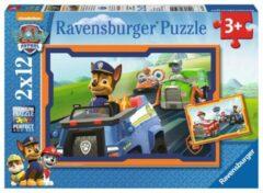 Ravensburger puzzel Paw Patrol in actie - Twee puzzels - 12 stukjes - kinderpuzzel