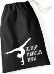 Sparkle&Dream Leertjes/Lusjes Tasje 'Repeat' Zwart, voor turnen en gymnastiek