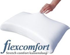 Mahoton - Stretchcomfort - Kussensloop - wit - set van 2 stuks