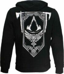 Assassin's Creed Valhalla Crest Banner Hoodie Vest met Rits en Capuchon Zwart