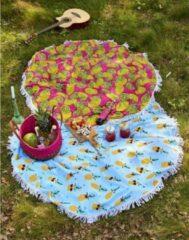 Covers en Co Covers & Co Lemons strandlaken - 100% polyester - Ø 150 cm - Multi