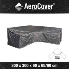 Antraciet-grijze AeroCover loungesethoes hoekset trapeze 300x300x90xh65/90 - antraciet
