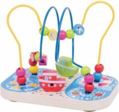 Blauwe Houten Kralenframe Marine Bigjigs Toys