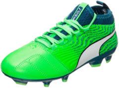 Fußballschuh One 18.3 FG Jr 104539-03 mit funktionaler Spandex-Socke Puma Green Gecko-Puma White-Deep Lagoon