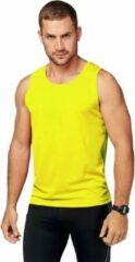 Proact Neon geel sport singlet voor heren S (36/48)
