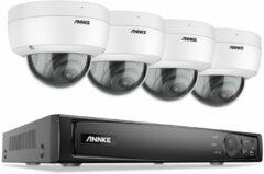 Witte ANNKE ACS-8 N48-BN - Beveiligingscamera set - PoE - 8MP - Vandaalbestendig