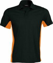 Kariban Heren Poloshirt met korte mouwen (Dual Colour) (Zwart/Oranje)