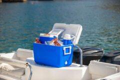 Blauwe Coleman Passieve koelbox Combo, 3 krachtige thermoboxen met inhoud 46 L, 4,7 L en 2 L