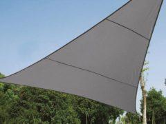 Antraciet-grijze Merkloos / Sans marque SCHADUWDOEK - WATERDOORLATEND ZONNEZEIL - DRIEHOEK - 5 x 5 x 5 m - KLEUR: ANTRACIET