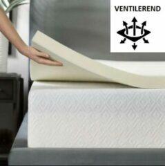 Witte Maxibedden Koudschuim 160x200 Topmatras dekmatras - HR schuim