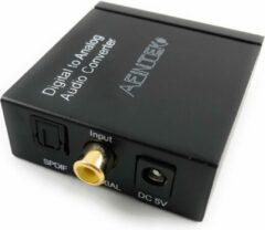 AFINTEK Digital Audio Converter (DAC) Digitaal Toslink naar rood/wit & 3,5mm audio analoog