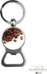 Zilveren MC Living Bieropener Glas - Koffiebonen