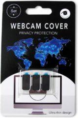 Zwarte PicoBello Products Webcam cover 3 stuks (zwart) privacy protector compact en zeer voordelig! webcamcover - webcam sticker - privacy protector - webcam schuifjes in geschenkverpakking!