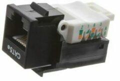 Haiqoe Ethernet jack Toolless CAT5E UTP Keystone zwart