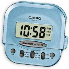 CASIO Wekker Blauw met LCD Wijzerplaat PQ-30-2EF